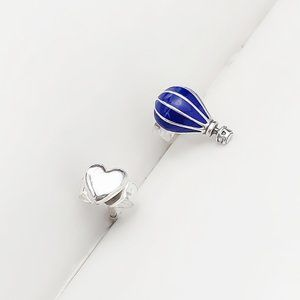 Hot Air Balloon and Heart Stud Earrings